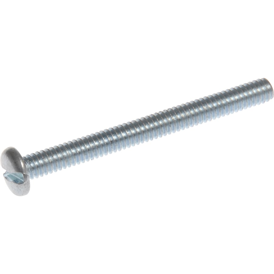 The Hillman Group 20-Count 2.5-mm-0.45 x 12-mm Cheese-Head Zinc-Plated Slotted-Drive Metric Machine Screws