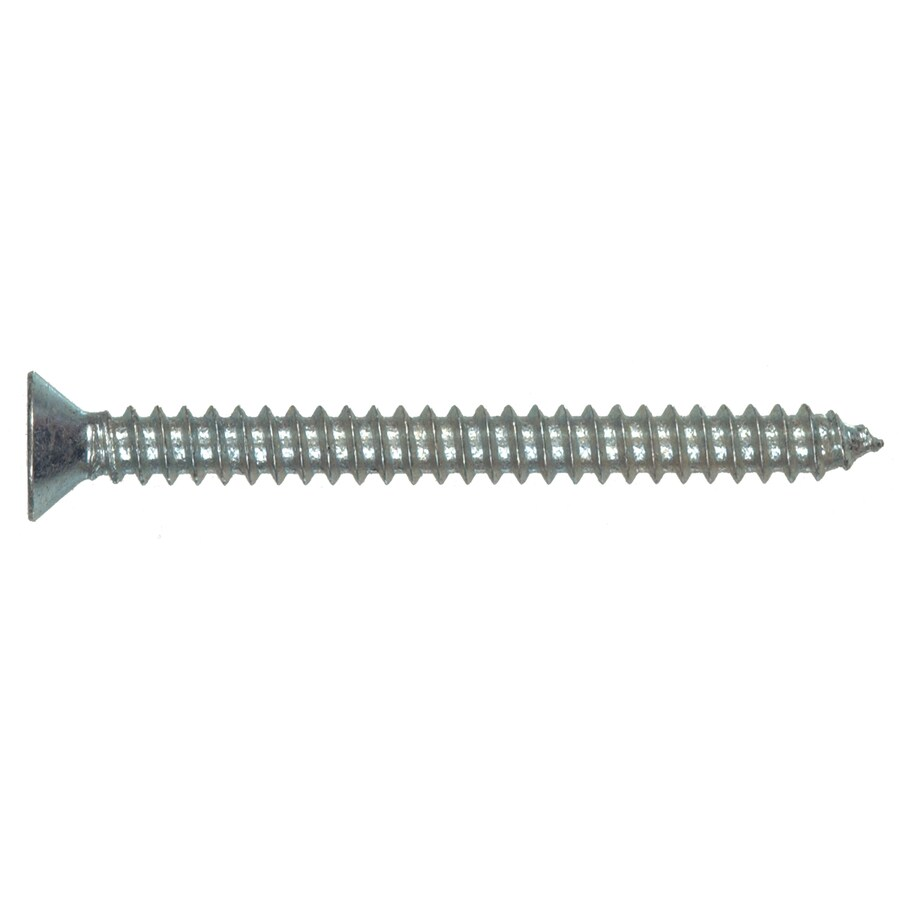 The Hillman Group 100-Count #12 x 1-in Zinc-Plated Interior/Exterior Sheet Metal Screws