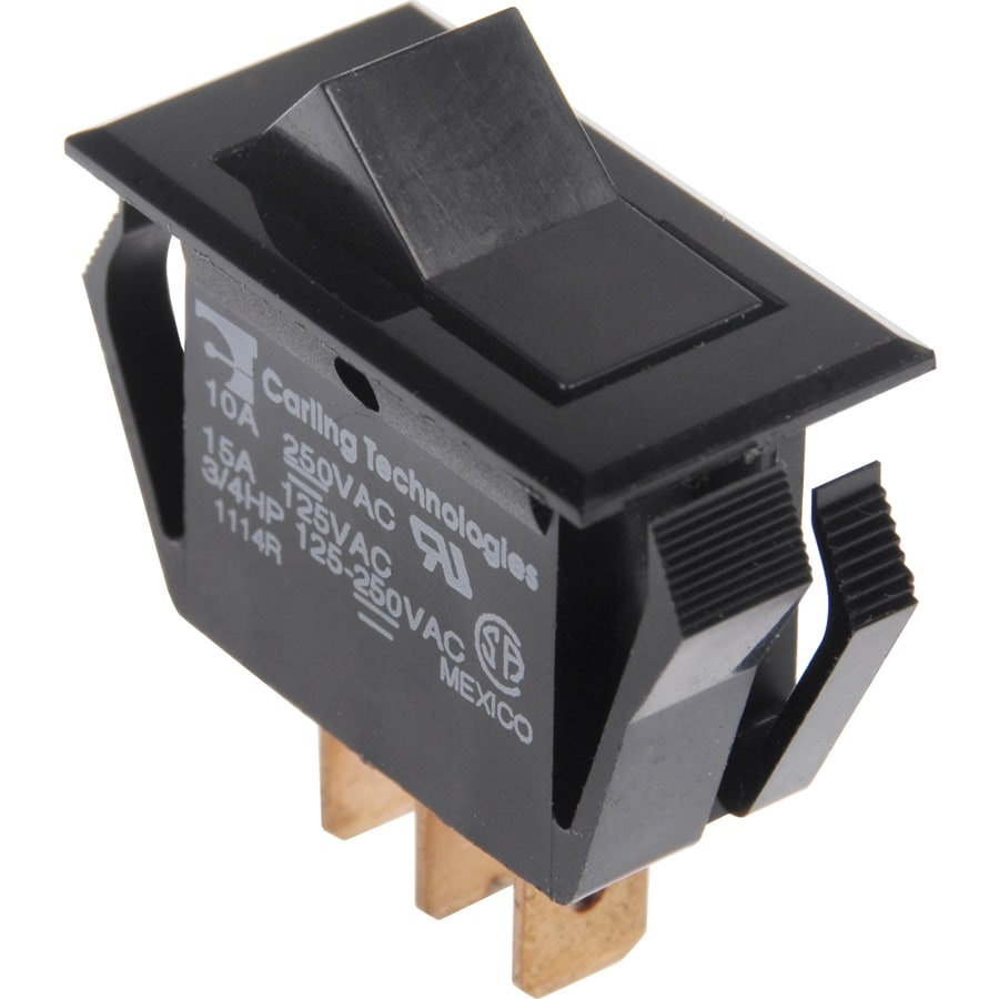 Hillman 3-Pack Double Pole Black Light Switches