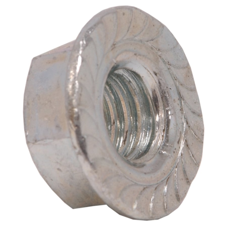 Hillman 100-Count 3/8-in Zinc-Plated Standard (SAE) Serrated Flange Lock Nuts