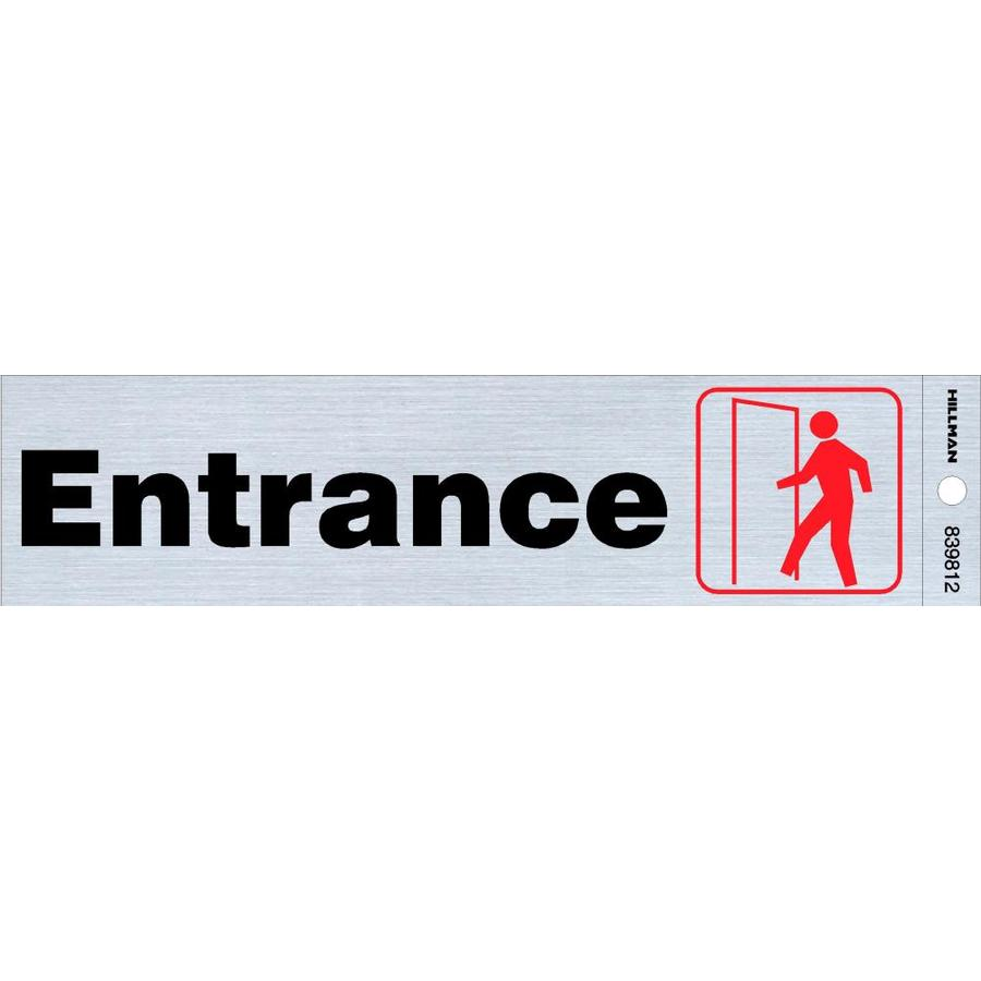 Hillman 2-in x 8-in Entrance Sign