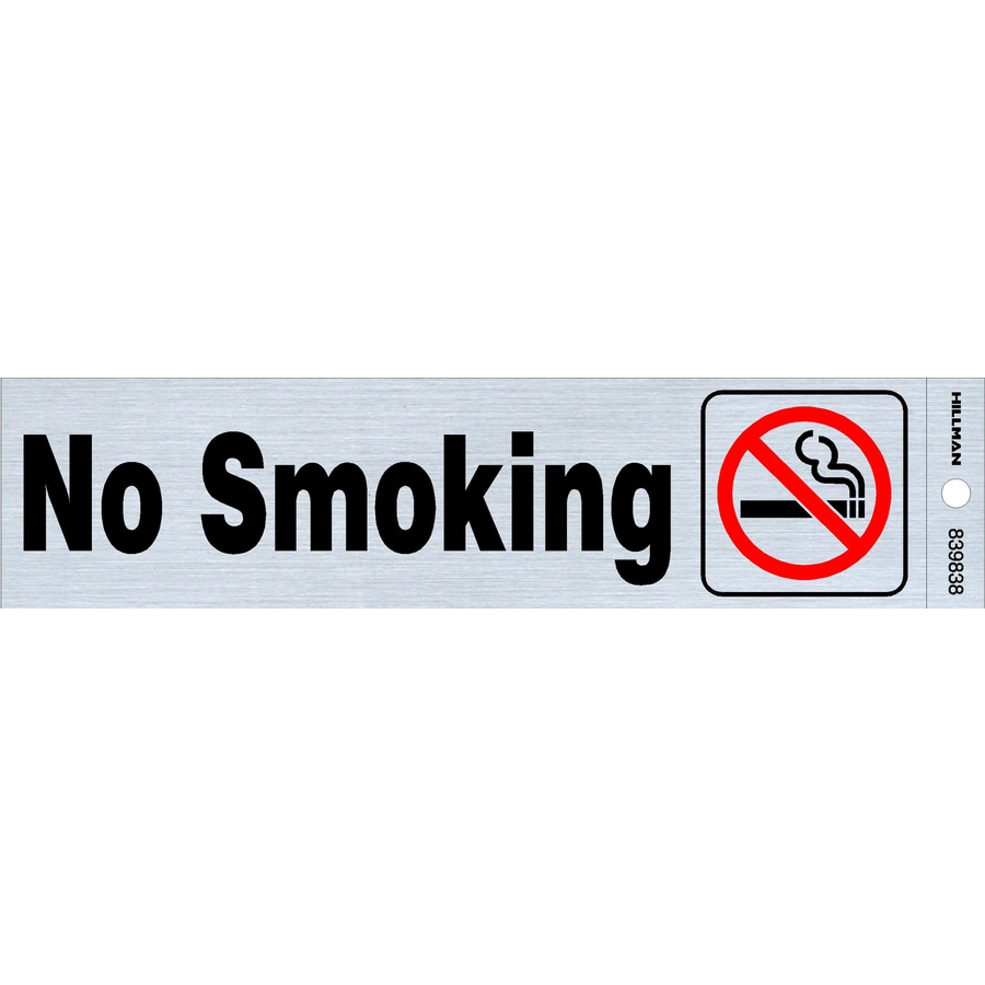 The Hillman Group 2-in x 8-in Smoking Sign