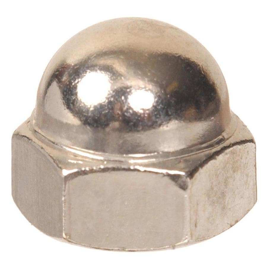 The Hillman Group 4-Count #8 Nickel Standard (SAE) Cap Nuts