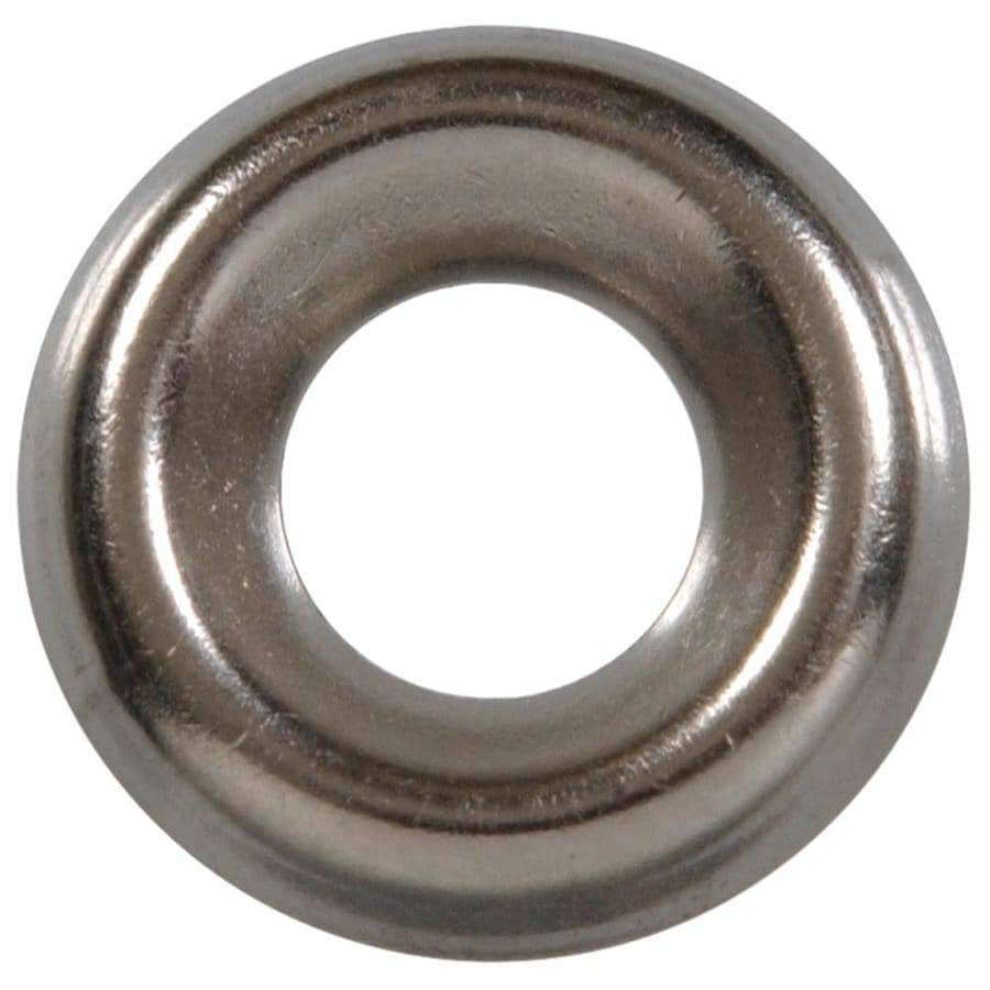 Hillman 4-Count #12 Nickel Standard (SAE) Finishing Washers