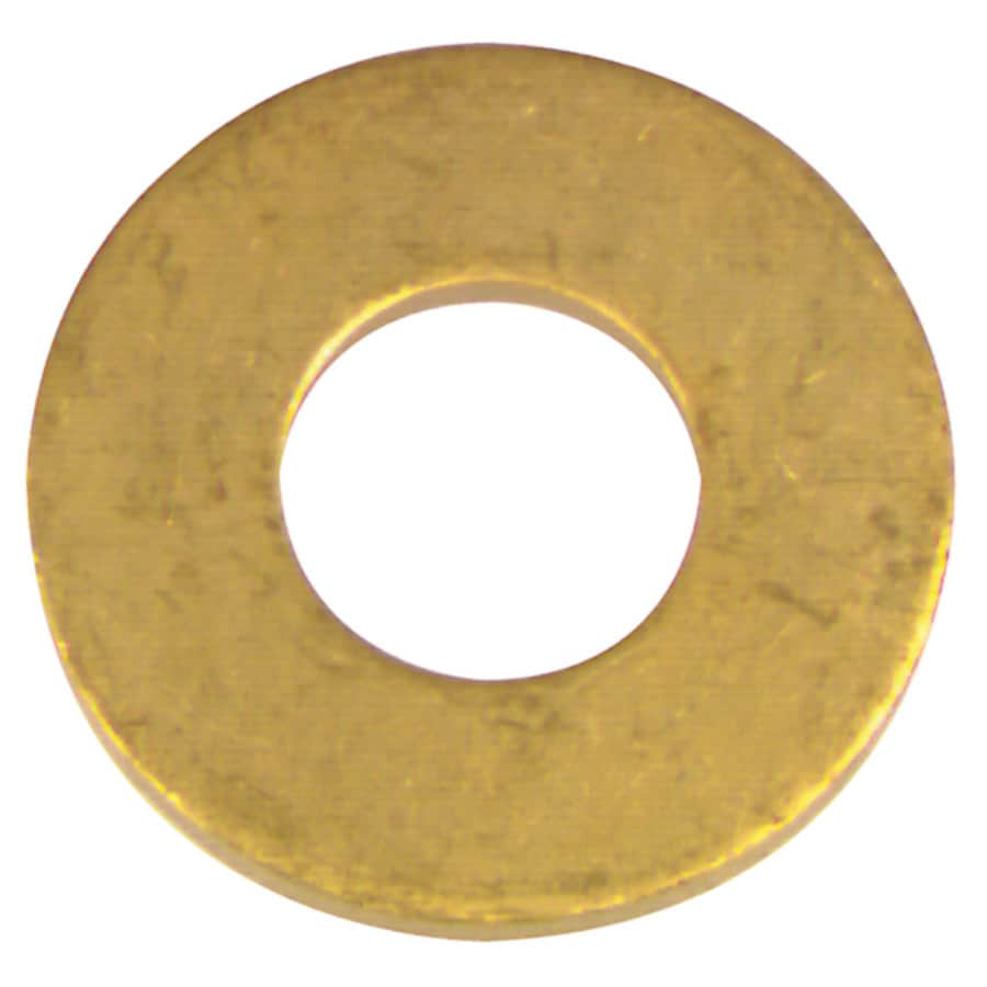 The Hillman Group 12-Count #6 x S Brass Standard (SAE) Flat Washer