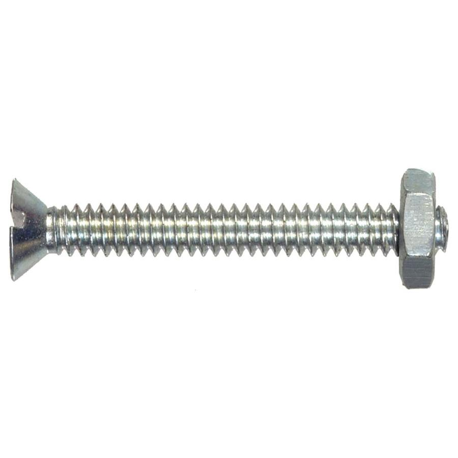 The Hillman Group 12-Count #8-32 x 1/2-in Flat-Head Slotted-Drive Standard (SAE) Machine Screws