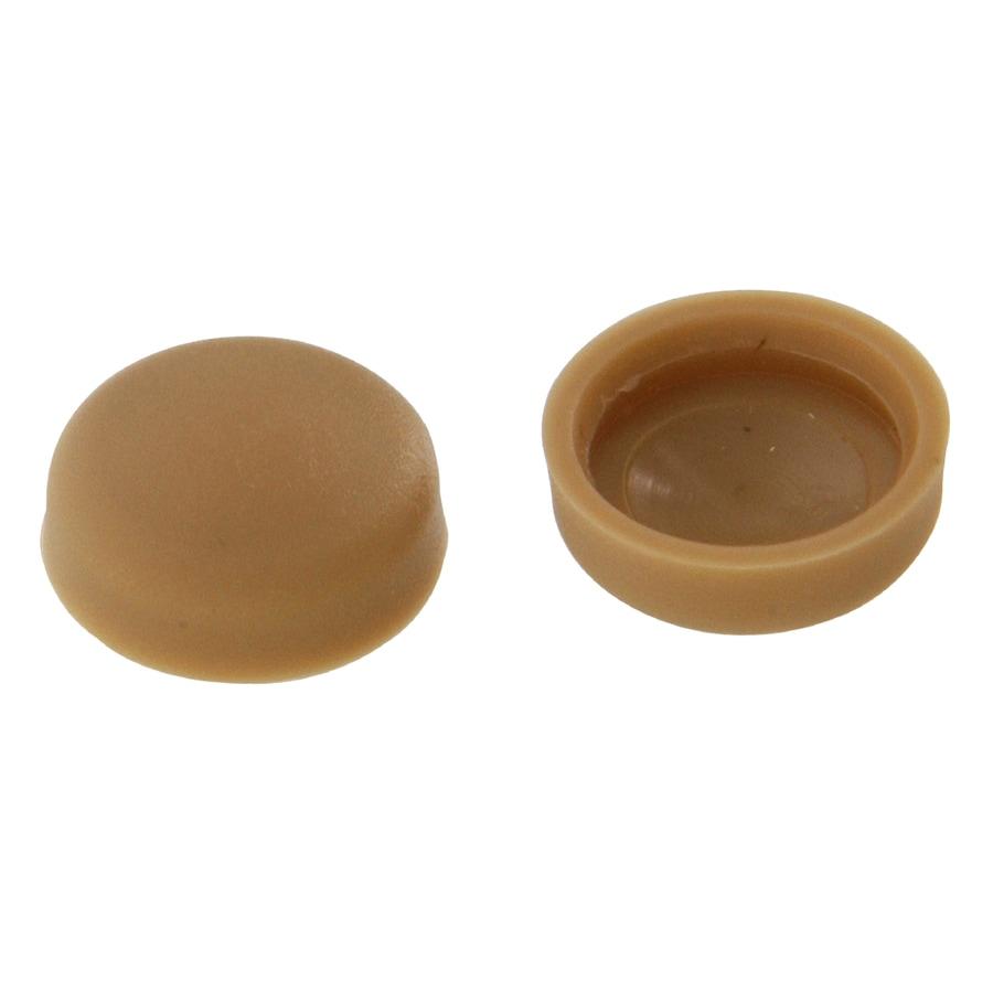 Hillman 1/2-in x 1/8-in Tan Plastic End Cap