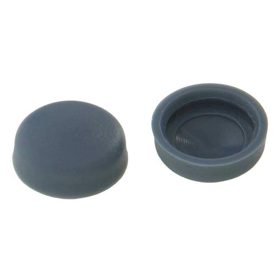 Hillman 5/8-in x 3/16-in Grey Plastic End Cap