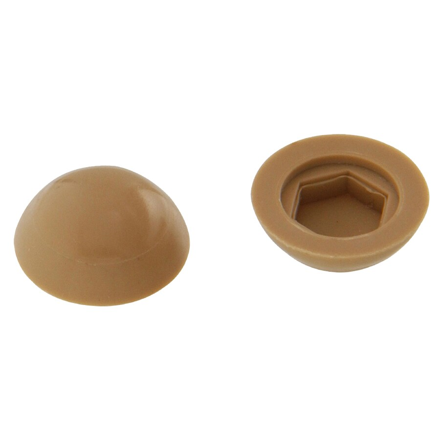 The Hillman Group 1/2-in x 1/4-in Tan Plastic End Cap