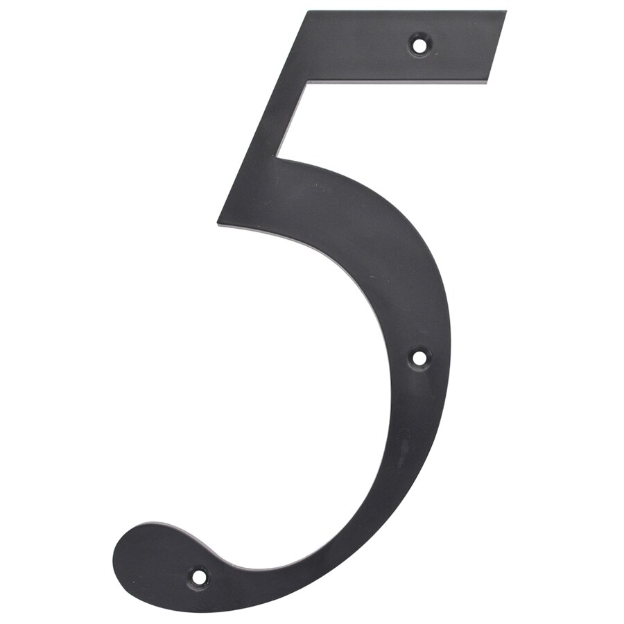 The Hillman Group 6-in Matte Black House Number #5