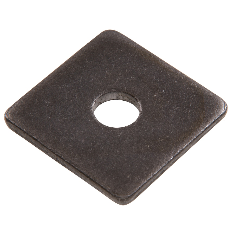 Hillman 50-Count 7/8-in Plain Steel Standard (SAE) Square Washers
