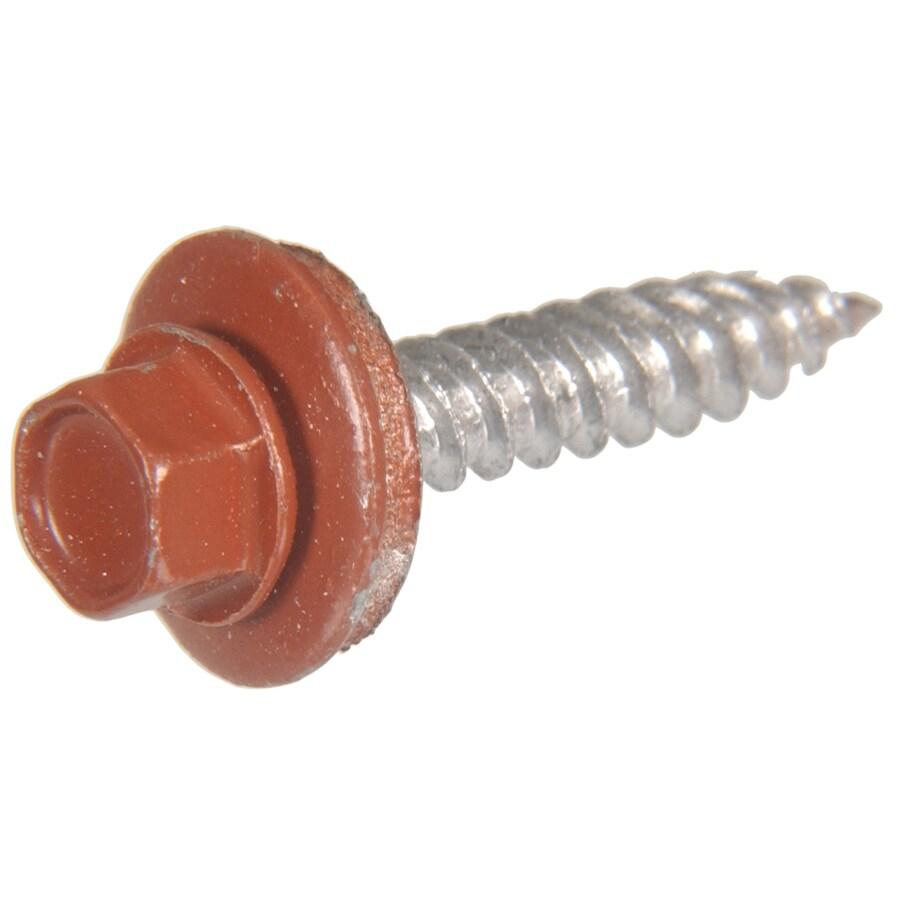 Hillman 107-Count #10 x 1.5-in Red Self-Drilling Socket Hex-Drive Interior/Exterior Standard (SAE) Sheet Metal Screws