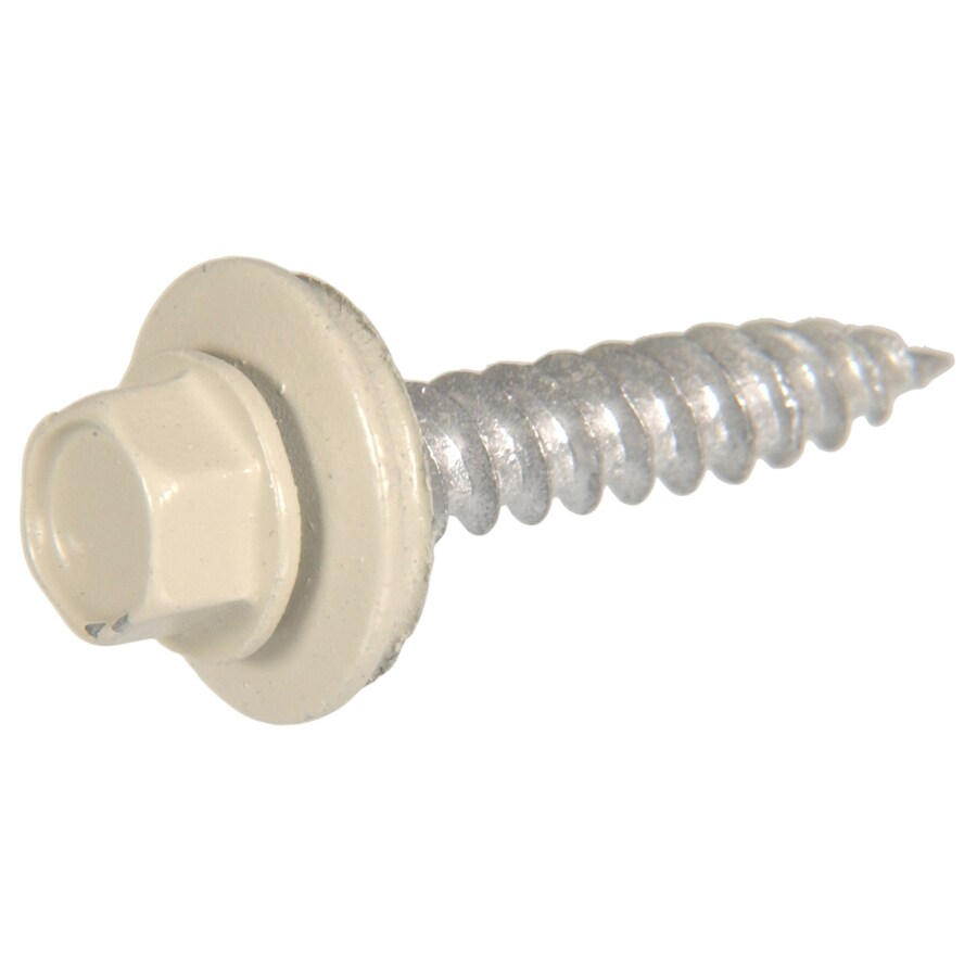 The Hillman Group 107-Count #10 x 1.5-in Beige Self-Drilling Socket Hex-Drive Interior/Exterior Standard (SAE) Sheet Metal Screws