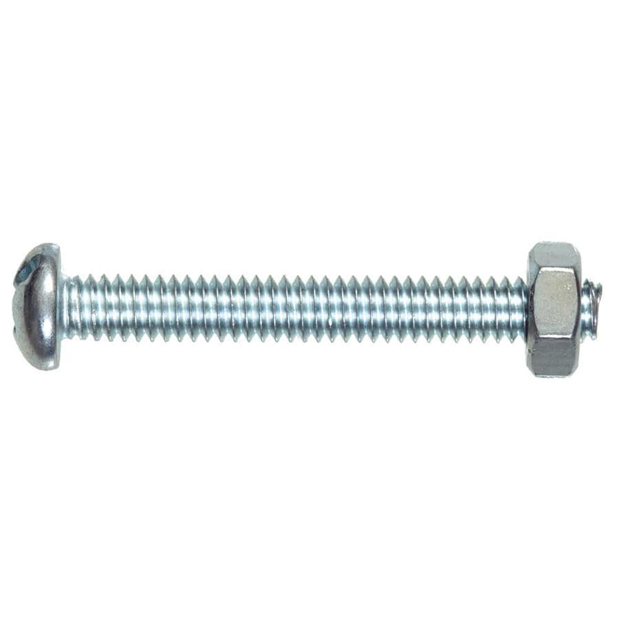 Hillman 4-Count #10 to 24 x 2.5-in Round-Head Zinc-Plated Phillips/Slotted Combination-Drive Standard (SAE) Machine Screw