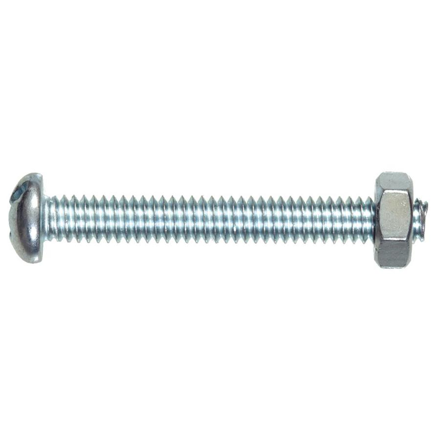 Hillman 4-Count 1/4-in to 20 x 1-in Round-Head Zinc-Plated Phillips/Slotted Combination-Drive Standard (SAE) Machine Screw