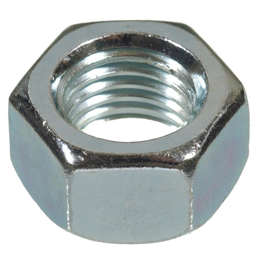 Hillman 100-Count 1/4-in Zinc-Plated Standard (SAE) Hex Nuts