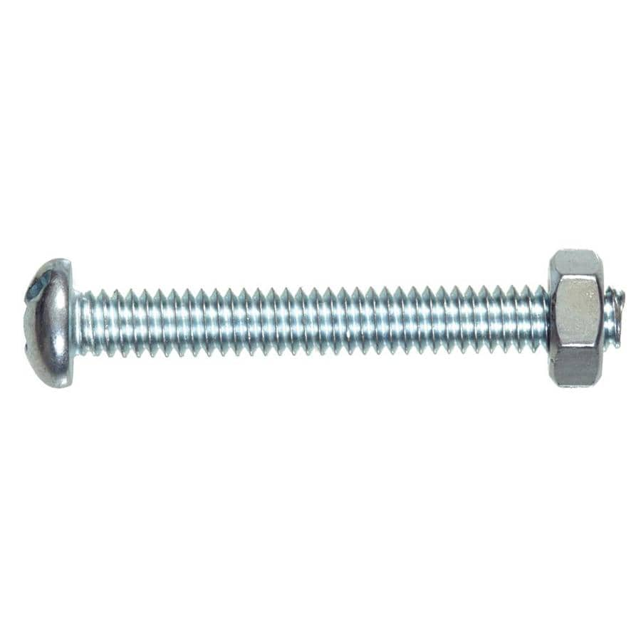 The Hillman Group 75-Count #10-24 x 1-in Round-Head Standard (SAE) Machine Screws