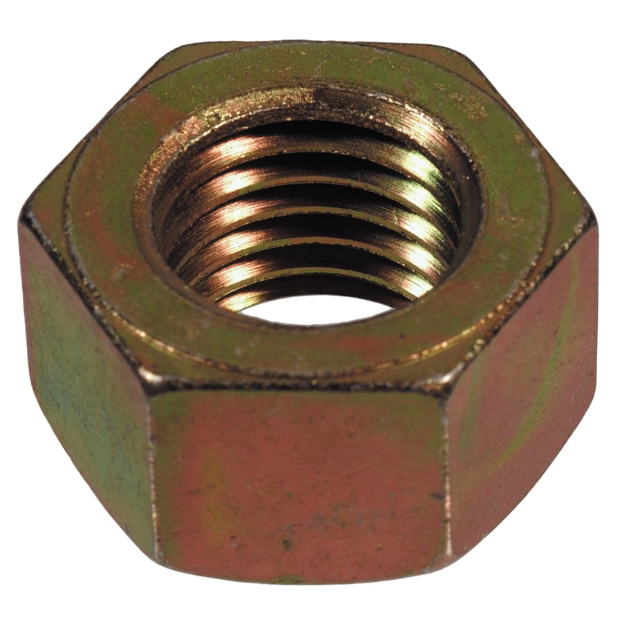 The Hillman Group 3-Count 7/16-in-14 Yellow Zinc Standard (SAE) Hex Nuts