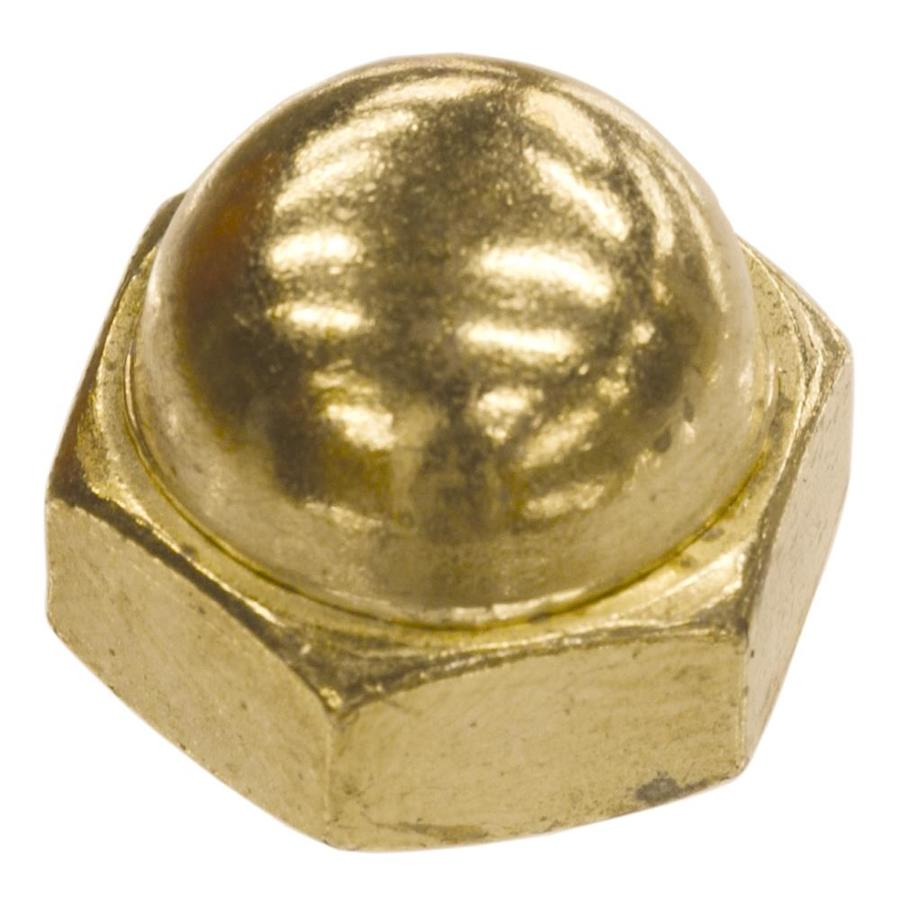 Hillman 4-Count 1/4-in Brass-Plated Standard (SAE) Cap Nuts