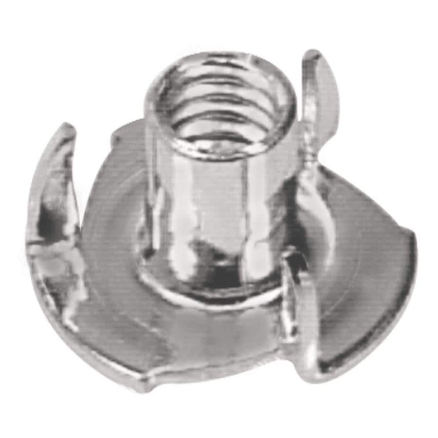 Hillman 2-Count 1/4-in Zinc-Plated Standard (SAE) 3-Prong Tee Nuts