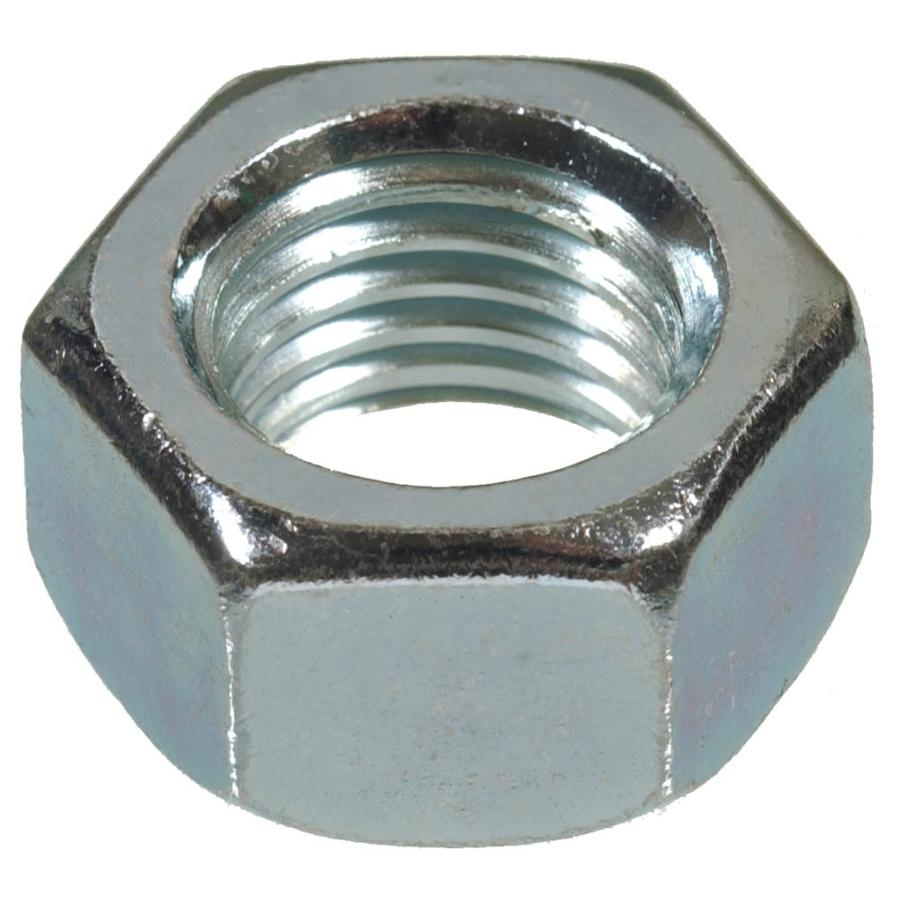 Hillman 2-Count 7/16-in Zinc-Plated Standard (SAE) Hex Nuts