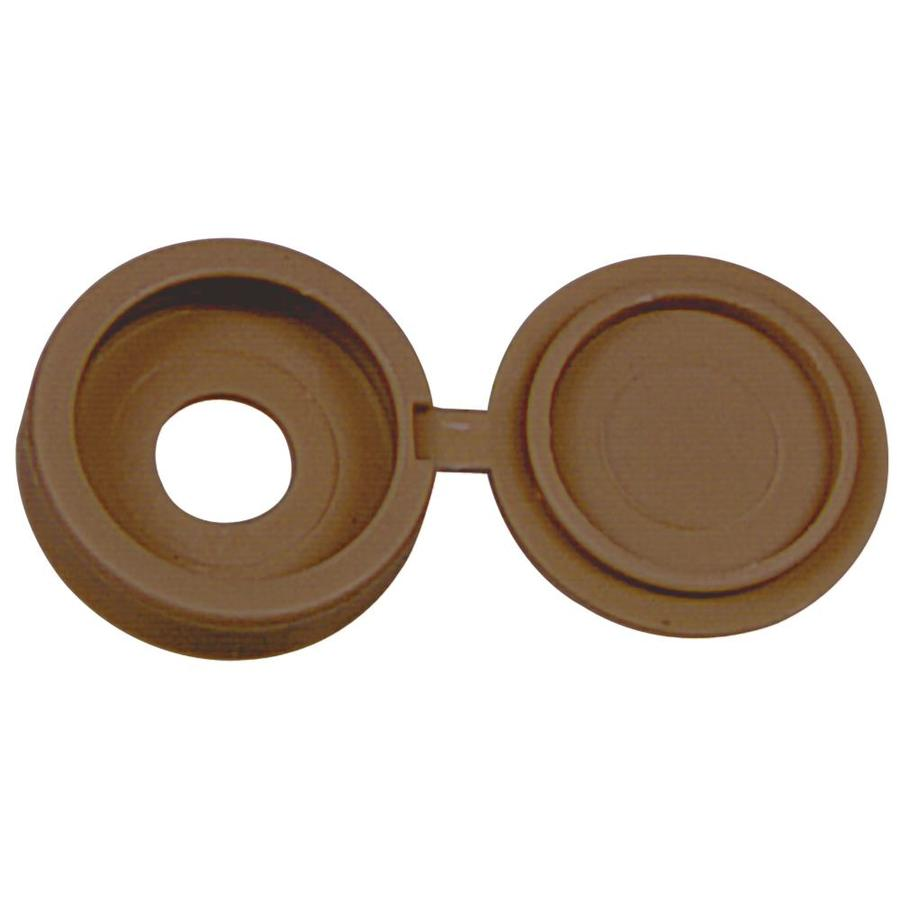 Hillman 1/8-in x 1/8-in Brown Plastic End Cap