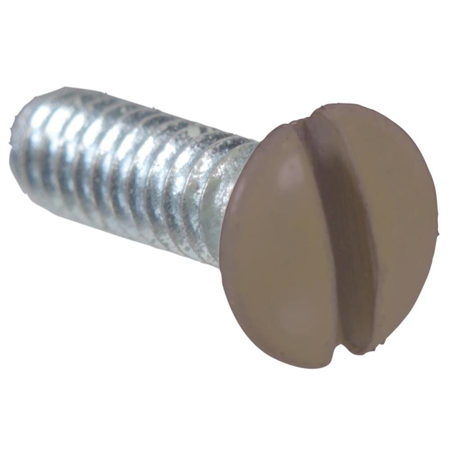 The Hillman Group 2-Pack #6-32 x 1/2-in Brown Wall Plate Screws