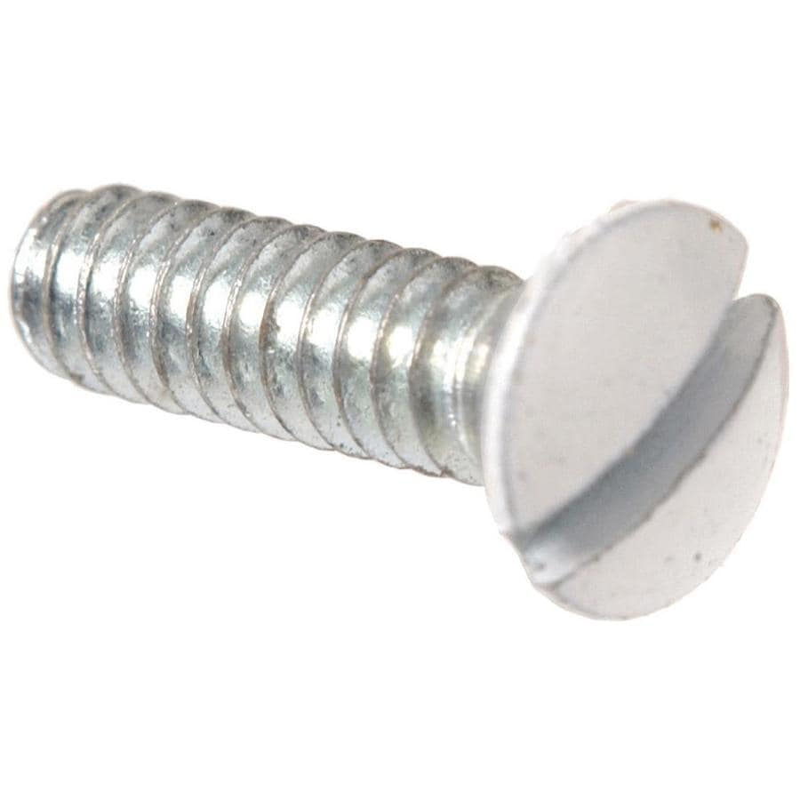 Hillman 2-Pack #6-32 x 1/2-in White Wall Plate Screws