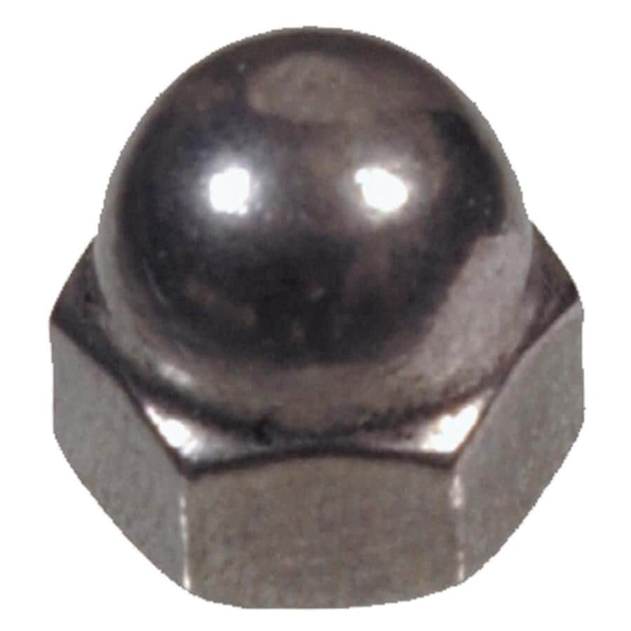 The Hillman Group 5-Count 1/4-in Stainless Steel Standard (SAE) Cap Nuts