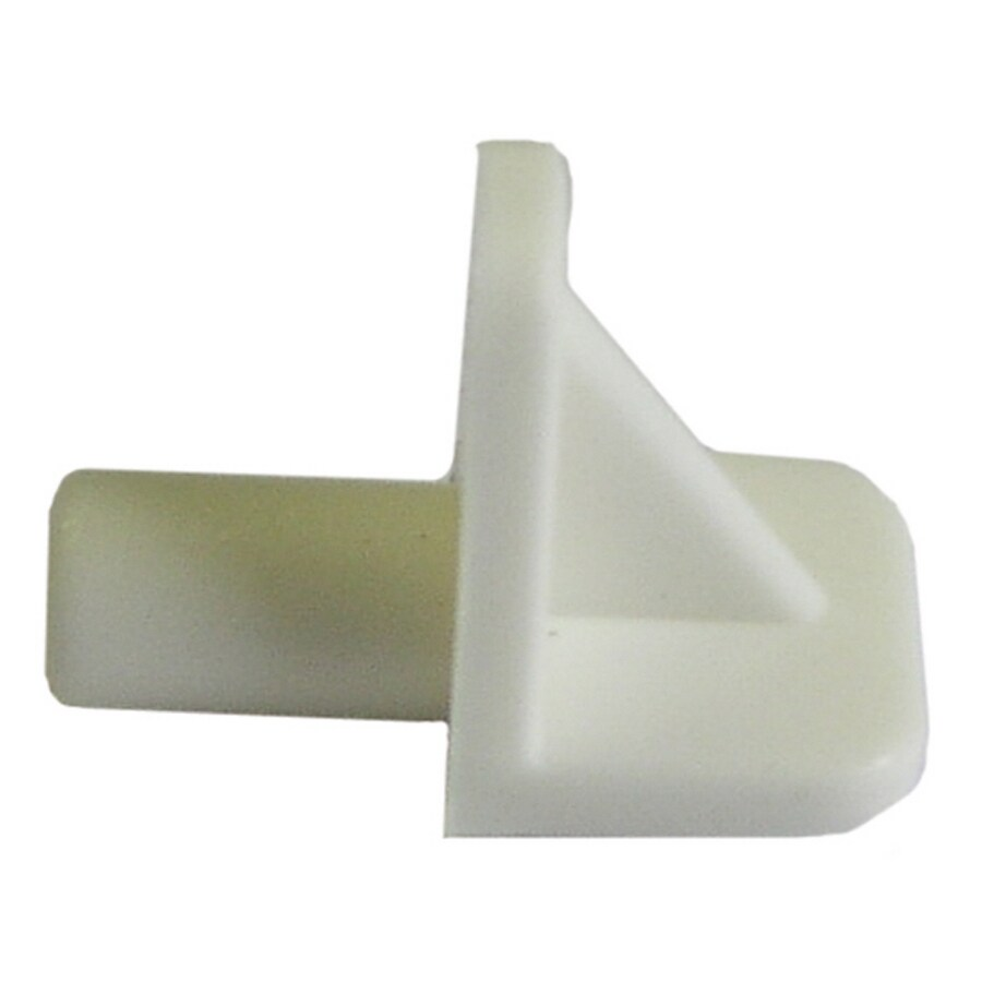 Hillman White Plastic Square Shelf Bracket