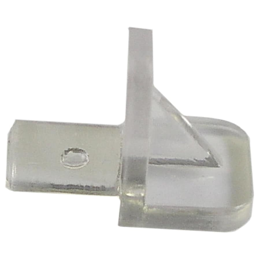 The Hillman Group 8-Pack 5mm Clear Plastic Square Shelving Hardware