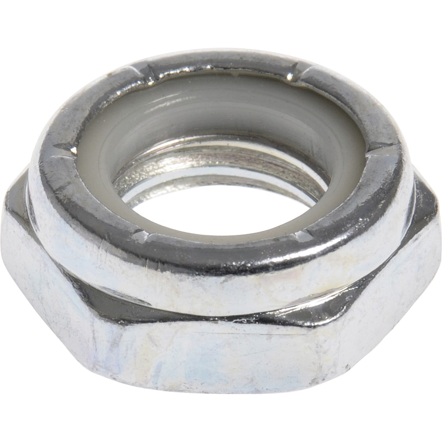 The Hillman Group 5-Count 7/8-in Zinc-Plated Standard (SAE) Nylon Insert Lock Nuts