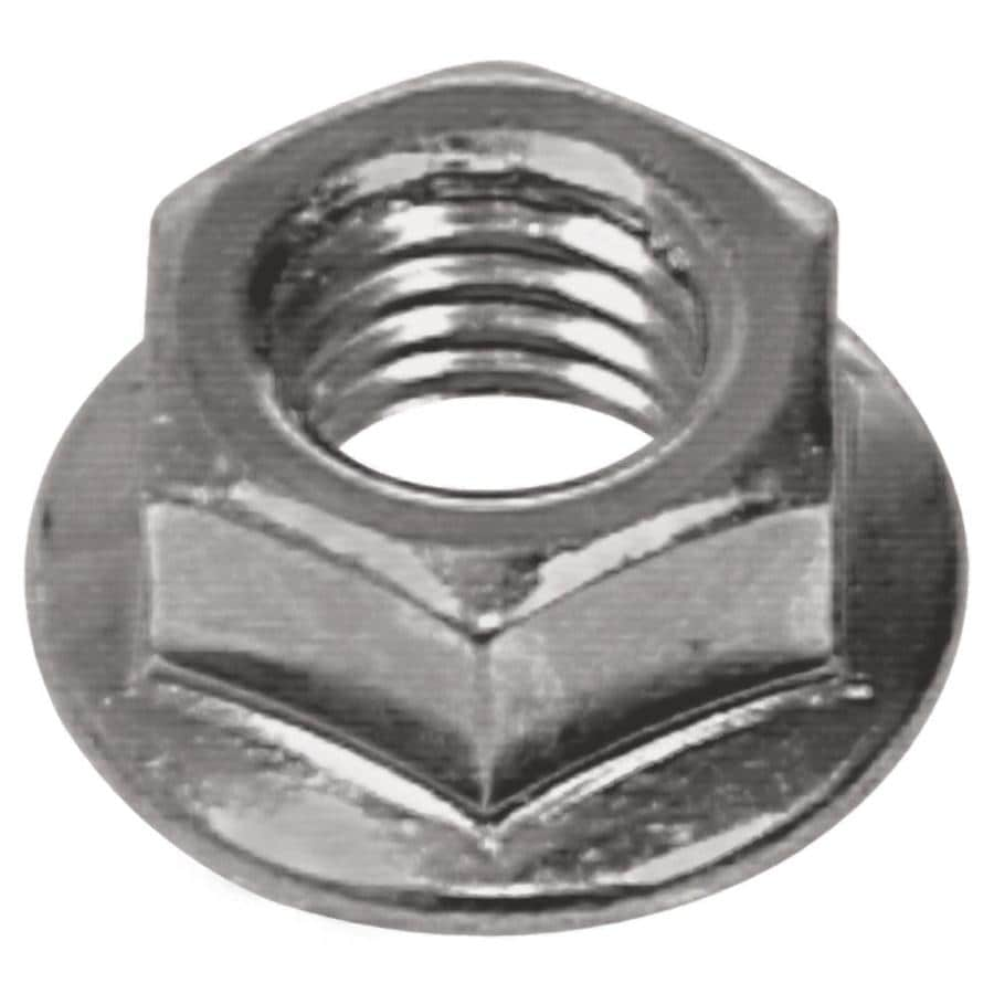Shop Hillman 2 Count 8mm Zinc Plated Metric Flange Nuts At