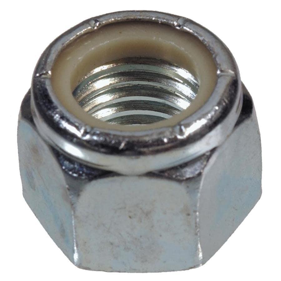 Hillman 2-Count 3/8-in Yellow Zinc Standard (SAE) Nylon Insert Lock Nuts