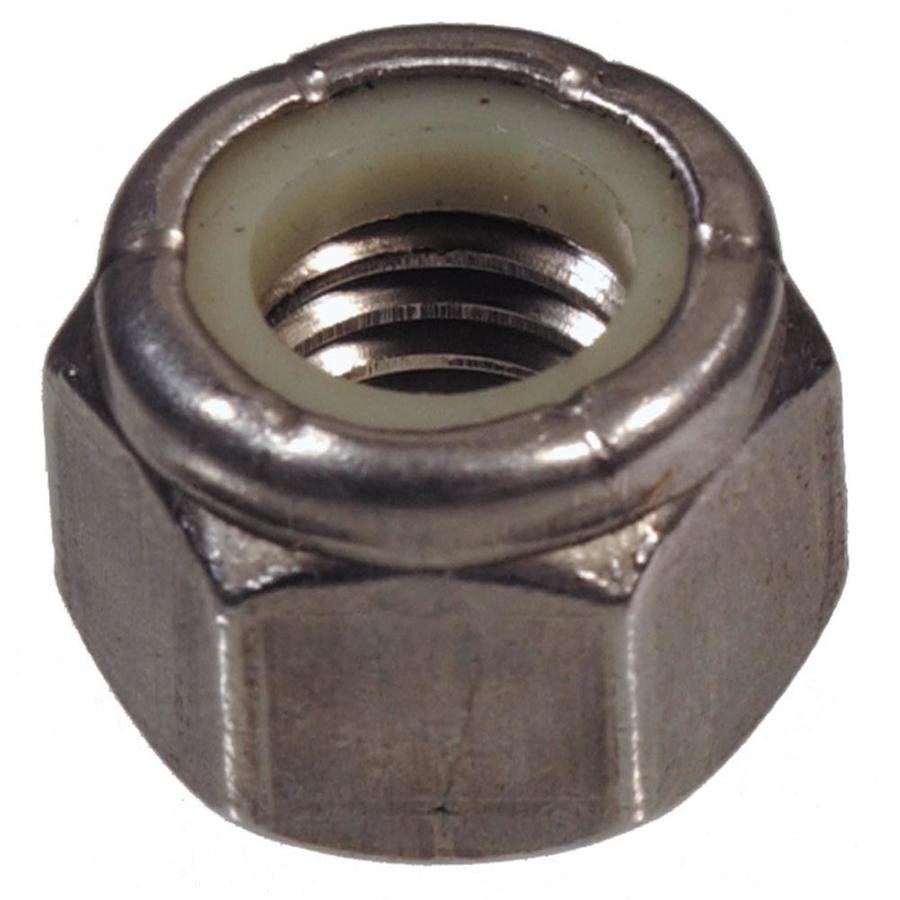 Hillman 2-Count 3/8-in Stainless Steel Standard (SAE) Nylon Insert Lock Nuts