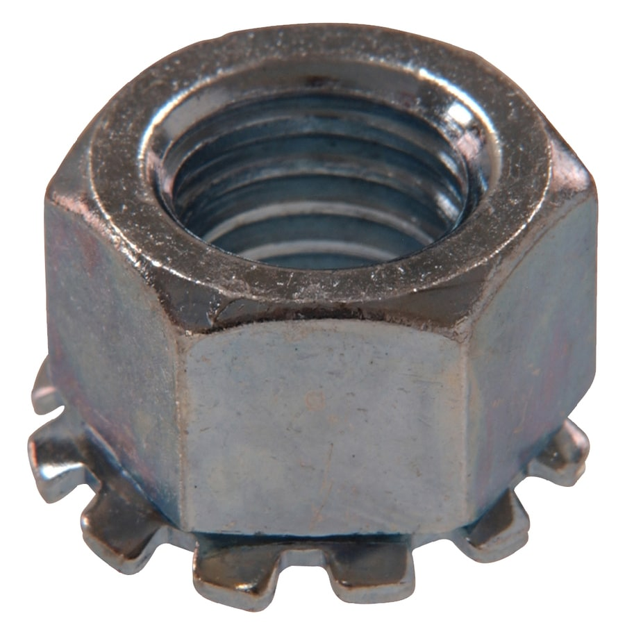 Hillman 50-Count 6mm Zinc-Plated Metric Keps Lock Nuts