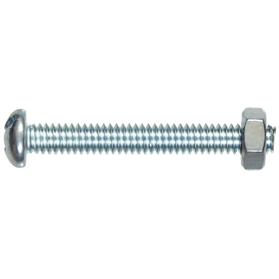 The Hillman Group 10-Count #14-20 x 1-1/4-in Round-Head Zinc-Plated Standard (SAE) Machine Screws