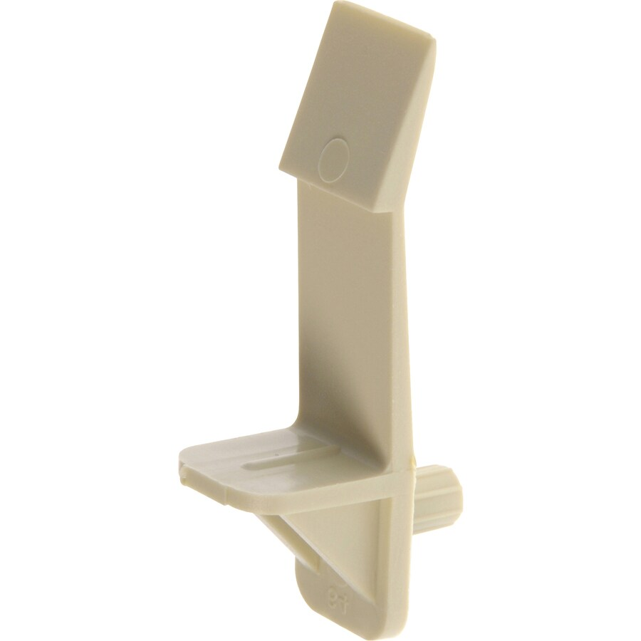 The Hillman Group 4-Pack 5mm Beige L Shape Shelving Hardware