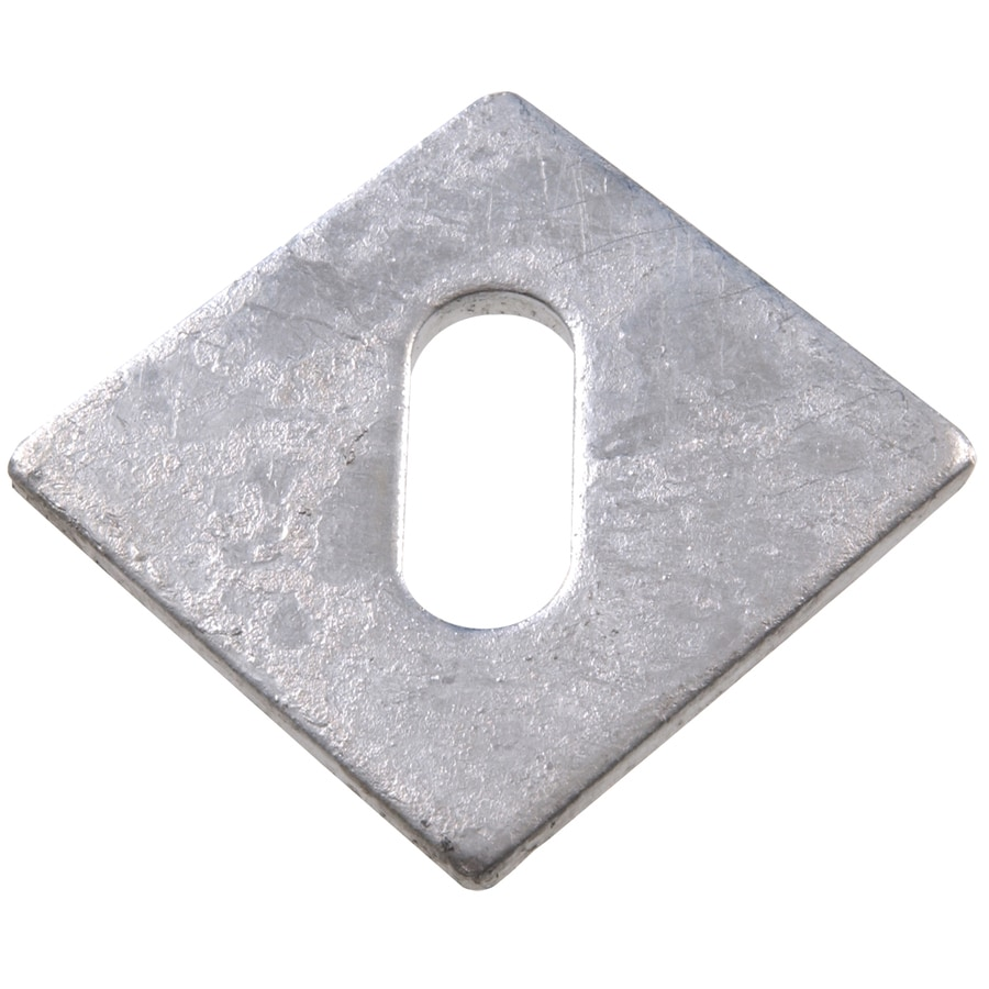Hillman 3-in x 3-in Hot Dip Galvanized Slotted Bearing Plate 5/8-in