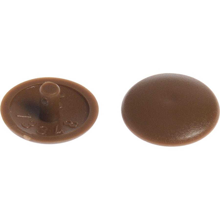 Hillman 8-in x 1/4-in Brown Plastic End Cap
