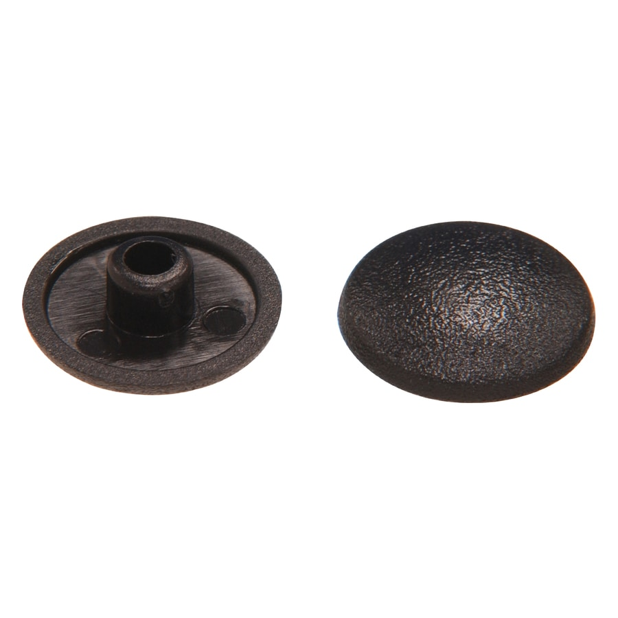 The Hillman Group 10-in x 1/4-in Black Plastic End Cap
