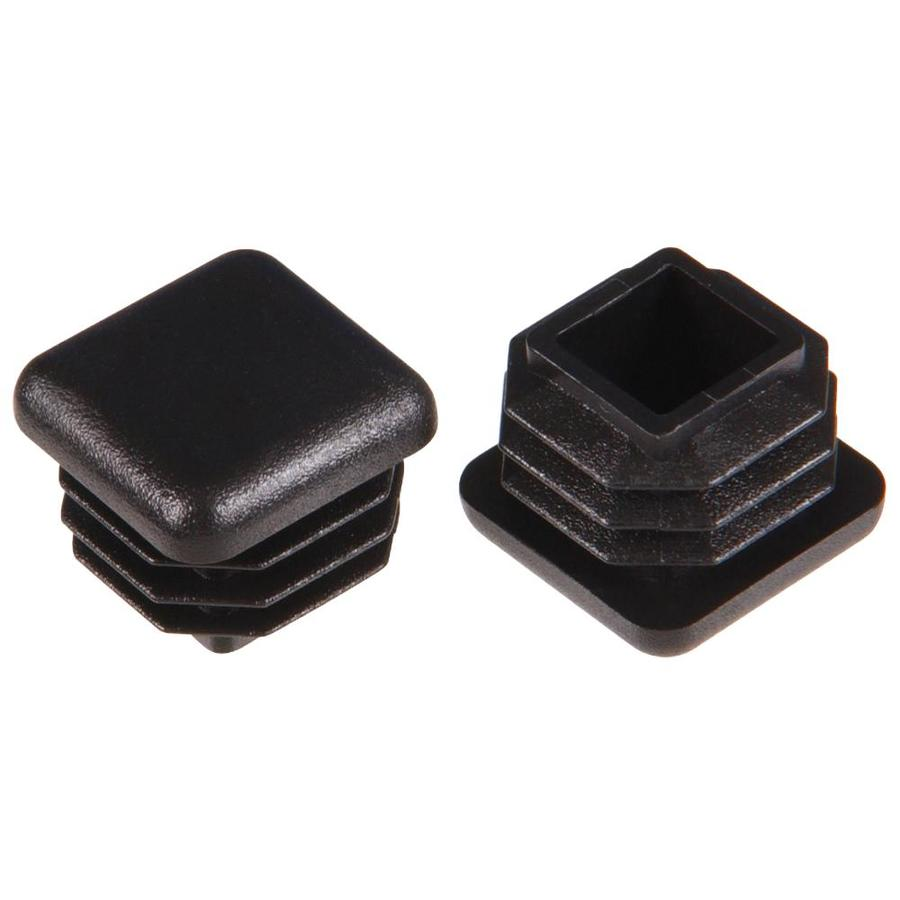 Hillman 2-Pack 3/4-in Black Plastic Inside Furniture Tips