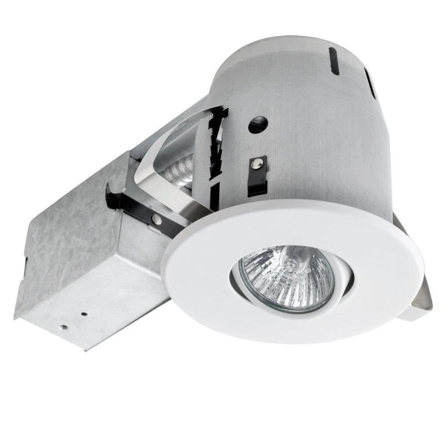 Globe Electric White Remodel and New Construction Recessed Light Kit (Fits Opening: 4-in)