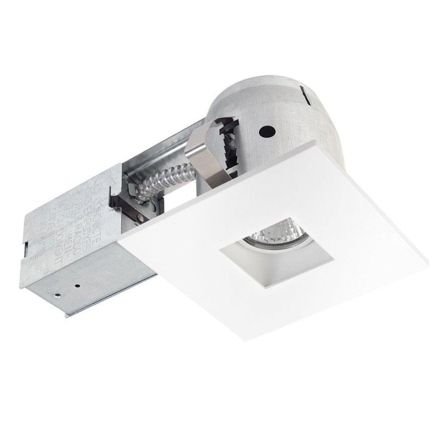 Getting To Grips With Ceiling Lighting: Shop Globe Electric White Remodel And New Construction Recessed Light Kit (Fits Opening: 4-in