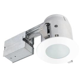 Globe Electric White Remodel And New Construction Recessed Light Kit Fits Opening 4