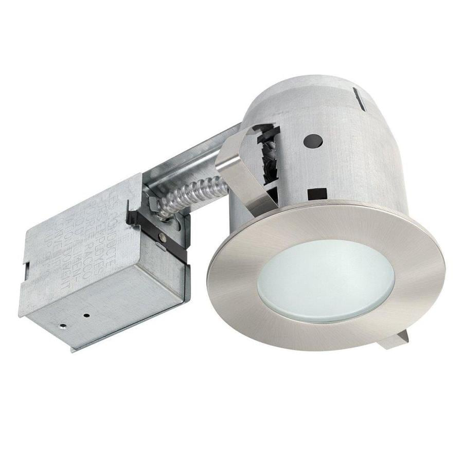 d2d6e1be233 Globe Electric Brushed Nickel Remodel and New Construction Recessed Light  Kit (Fits Opening  4