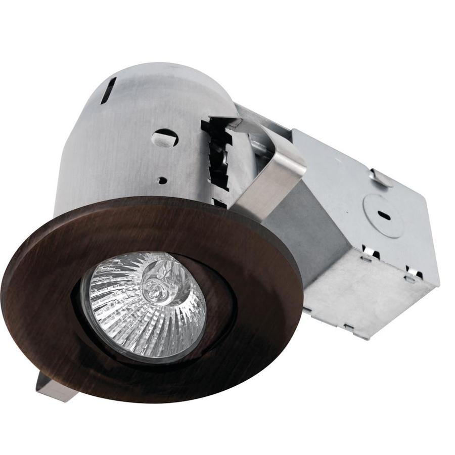 Globe Electric Oil Rubbed Bronze Remodel and New Construction Recessed Light Kit (Fits Opening: 3-in)