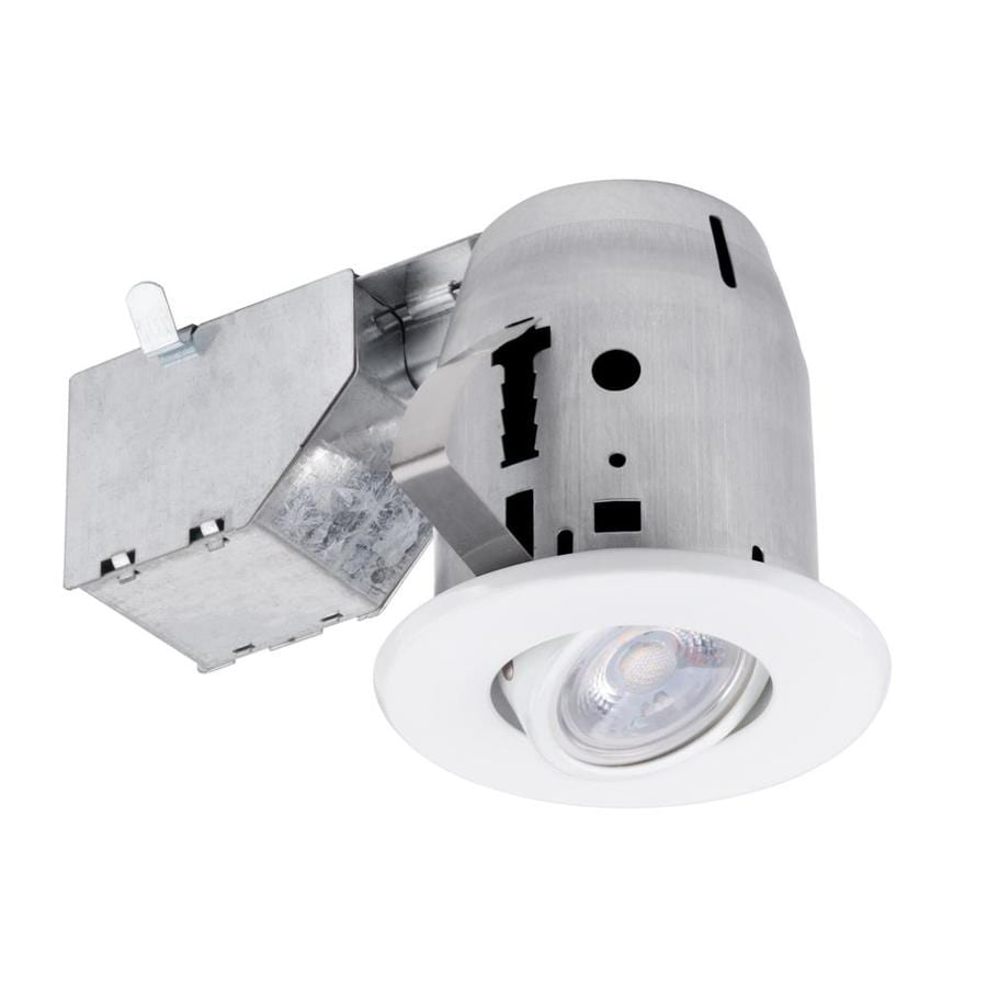 Globe Electric White Remodel and New Construction Recessed Light Kit (Fits Opening: 3-in)