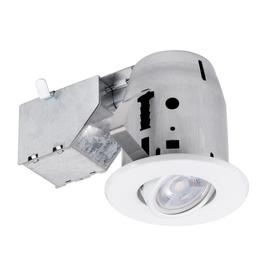 9ab85476ac0 Globe Electric White Remodel and New Construction Recessed Light Kit (Fits  Opening  3-