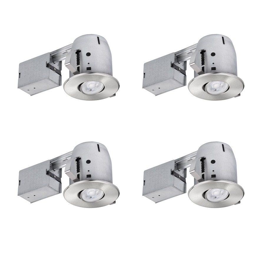 Globe Electric Brushed Nickel Remodel and New Construction Recessed Light Kit (Fits Opening: 4-in)